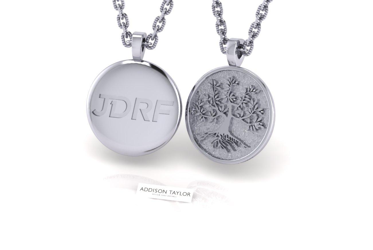 Sterling silver jdrf tree of life dome pendant no medical alert home pendant necklace sterling silver jdrf tree of life dome pendant no medical alert aloadofball Images
